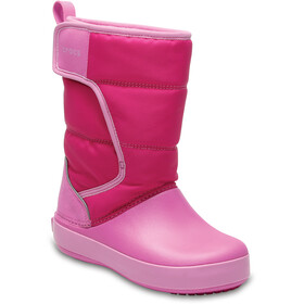 Crocs LodgePoint Boots de neige Enfant, candy pink/party pink